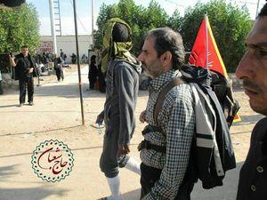 عکس/ شهید شعبان نصیری در پیادهروی اربعین