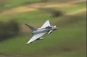 فیلم دیدنی از پرواز جنگنده آلمانی تایفون در ارتفاع پایین