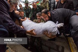 عکس/ تشییع شهید میرحسینی در رشت