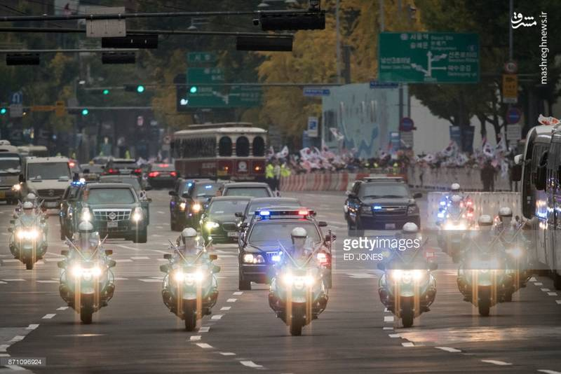 کاروان اسکورت ترامپ  عکس