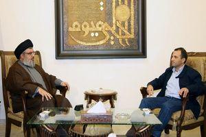 وزیر خارجه لبنان با سید حسن نصر الله دیدار کرد