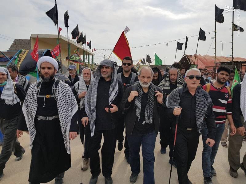 علی نیکزاد در پیاده روی اربعین