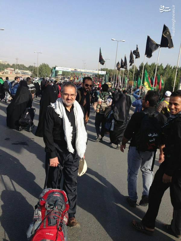 سید محمد حسینی وزیر اسبق ارشاد در پیادهروی اربعین