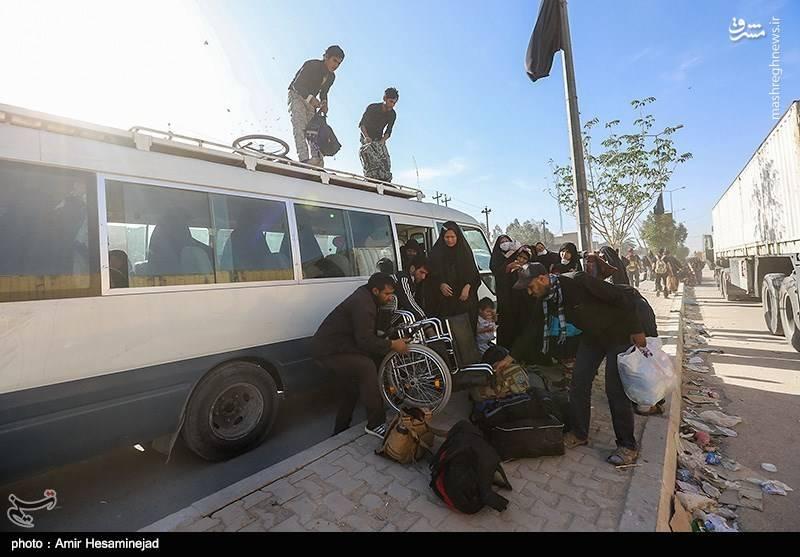 عکس/ بازگشت زائران اربعین حسینی