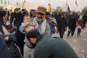 عکس/ رئیس صدا وسیما در پیادهروی اربعین