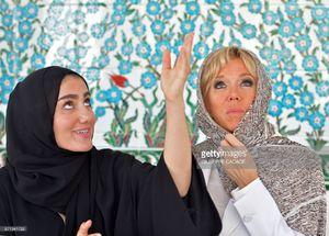 """عکس/ حجاب همسر """"ماکرون"""" در مسجد شیخ زاید"""