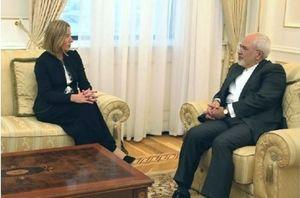 دیدار ظریف و موگرینی در حاشیه کنفرانس امنیت آسیای مرکزی