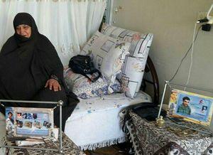 مادر شهیدان عزیزاللهی دار فانی را واع گفت