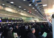 فیلم/ ازدحام زائران اربعین در فرودگاه نجف