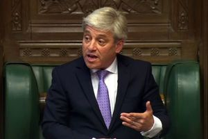 فیلم/ سر و صداهای عجیب رئیس مجلس انگلیس!
