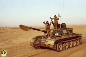 تانک در جبهه - ادوات دفاع مقدس