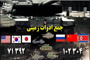 فیلم/ مقایسه توان نظامی ائتلاف آمریکا و روسیه