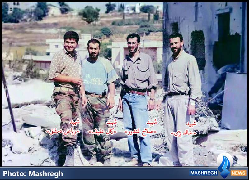 چهار سردار شهید حزب الله در یک قاب