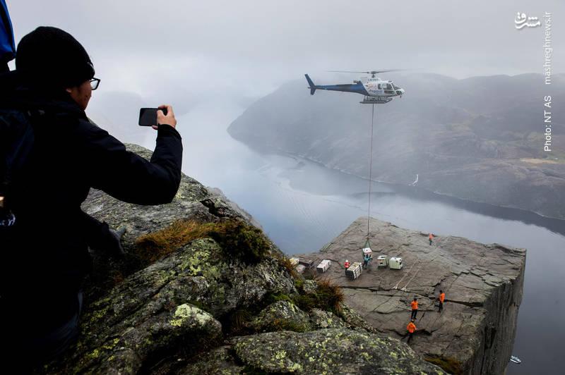 حمل تجهیزات در نروژ برای ساخت قسمت جدیدی از فیلم «عملیات غیرممکن»