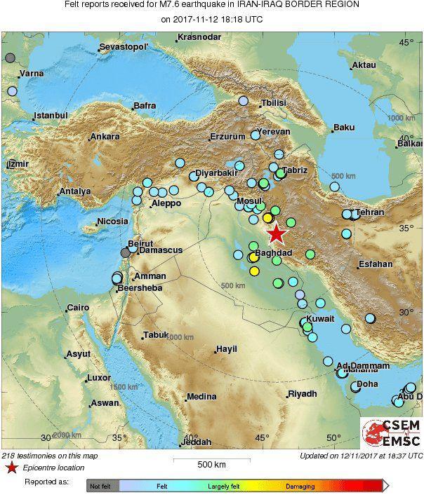 2107306 زلزله شمال عراق 20 آبان 96 + جزئیات و تصاویر و تعداد کشته های حادثه