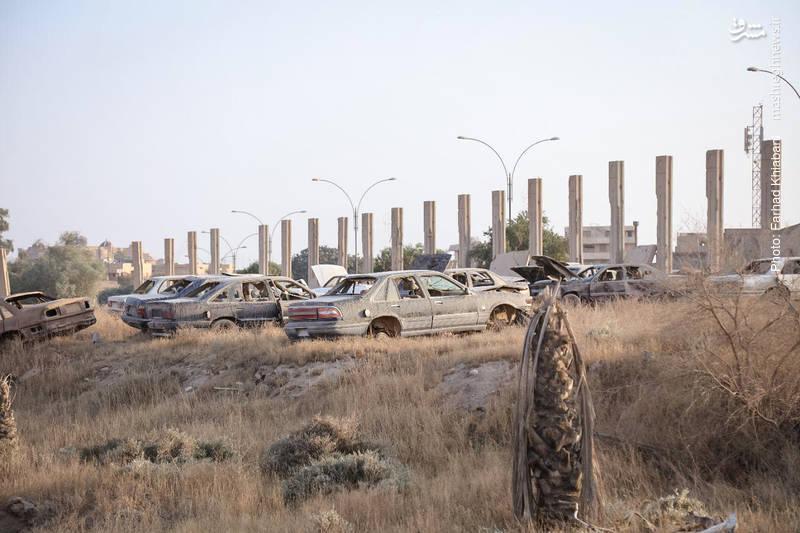 محوطه بیرونی کاخ صدام در تکریت