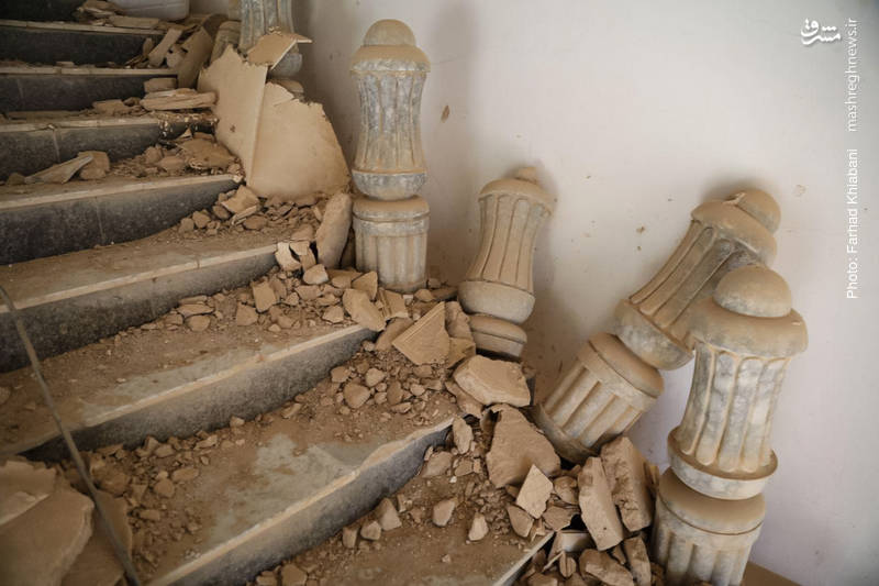 باقیمانده های کاخ های مجلل صدام در تکریت