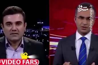 فیلم وقوع زلزله حین مصاحبه زنده تلویزیونی در سلیمانیه عراق