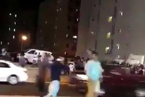 فیلم/ تخلیه برجهای کویت پس از وقوع زلزله