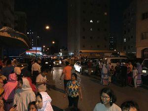 عکس/ ترس و استرس مردم کویت پس از زلزله