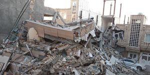 عکس/ تخریب ساختمان 6طبقه در جوانرود