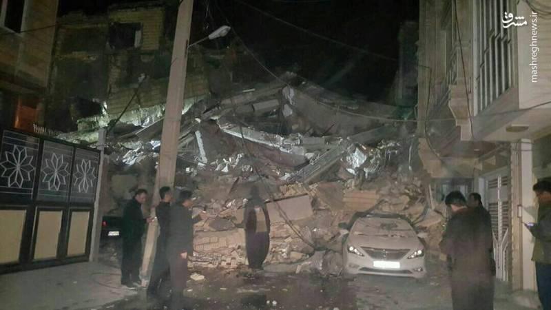 تصویری از خسارات زلزله در جوانرود