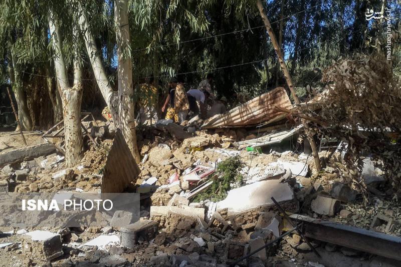 خسارات زلزله در روستای بابااسکندر - کرمانشاه