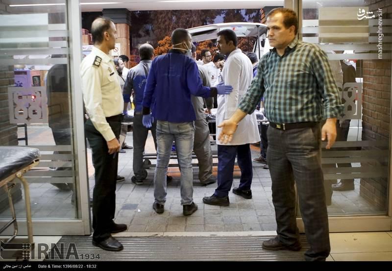 انتقال مصدومان زلزله کرمانشاه به تهران + تصاویر