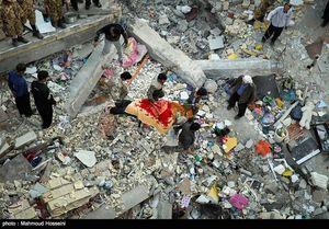 عکس/ عملیات آوار برداری زلزله زدگان سرپل ذهاب