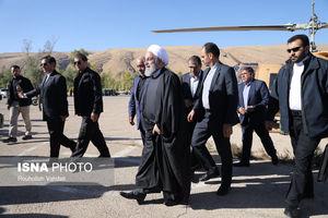 بازدید رییس جمهور از مناطق زلزله زده استان کرمانشاه