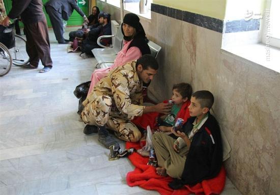 برپایی بیمارستان صحرایی ارتش در سرپل ذهاب +عکس