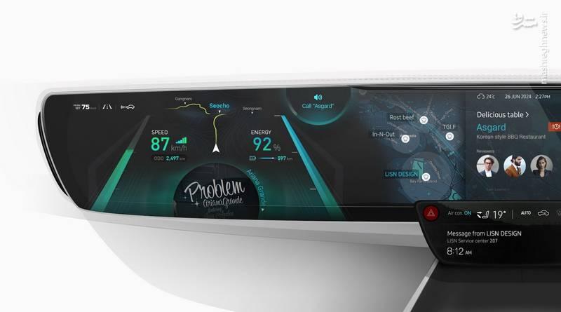 داشبورد خودروهای آینده +عکس