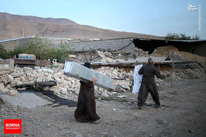 تخریب روستاهای دشت ذهاب براثر زلزله