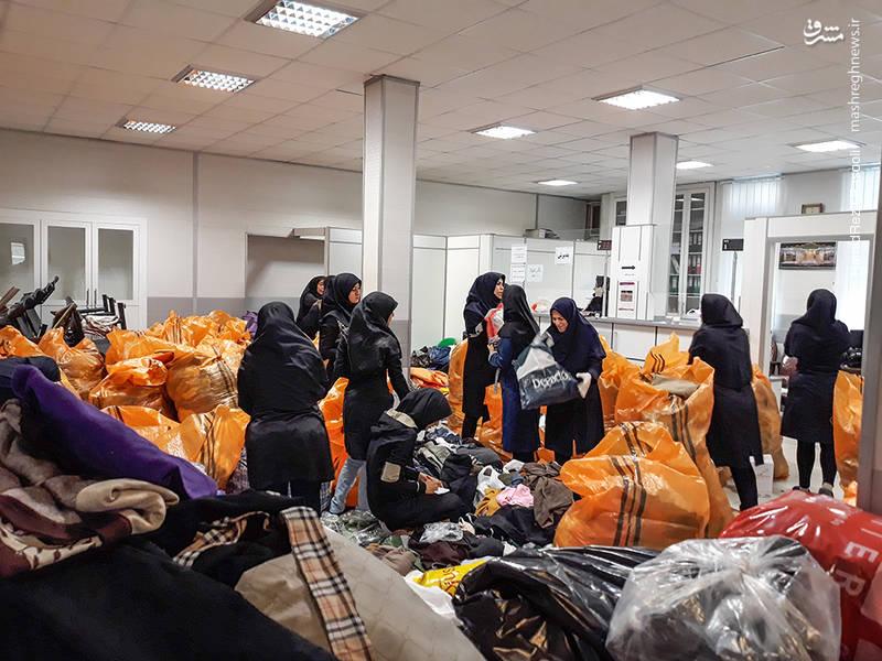 کمکهای مردم تهران به زلزله زدگان استان کرمانشاه
