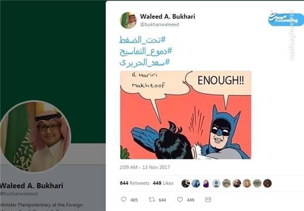 کاردار عربستان به کارتون متوسل شد +عکس