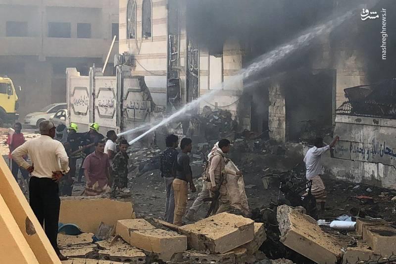 اولین تصاویر از انفجار شدید درجنوب یمن