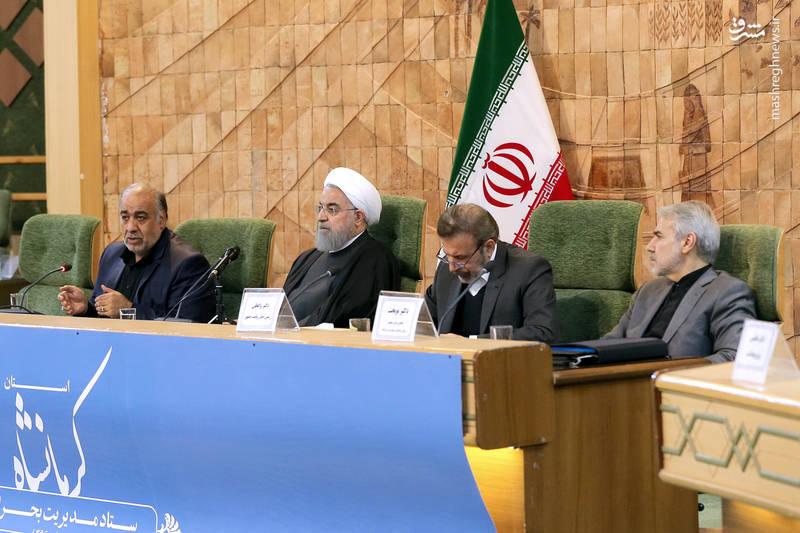 دکتر روحانی در جلسه ستاد بحران استان کرمانشاه