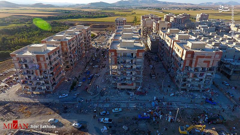 تصاویر هوایی از مناطق زلزله زده سرپل ذهاب