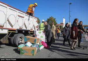 جمع آوری کمکهای مردم سنندج برای زلزله زدگان