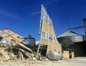 تخریب کارخانه آرد در شهرک صنعتی سرپل ذهاب