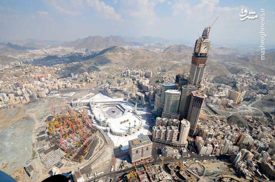 آل سعود مشغول کار است: از فروش زمینهای اطراف حرم مکی به خارجیها  تا مسقف کردن خانه خدا +عکس و فیلم