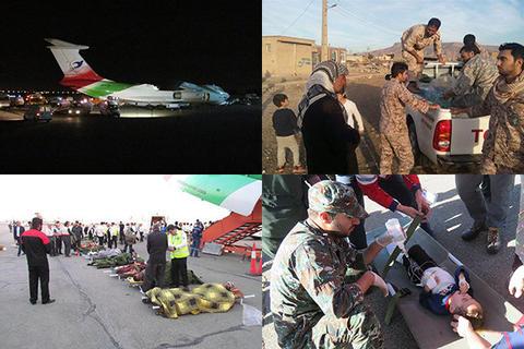 برقراری پل هوایی تهران-کرمانشاه توسط سپاه و ارتش
