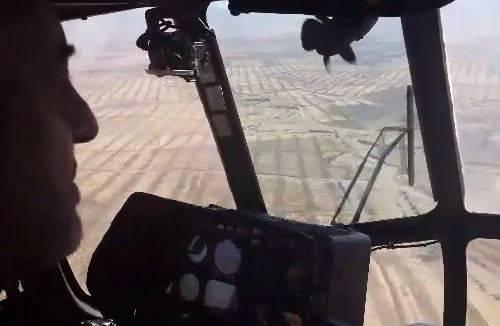 فیلم/ بازدید هوایی فرمانده سپاه از مناطق زلزله زده