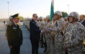 سرکشی اردوغان از پایگاه نظامی ترکیه در قطر
