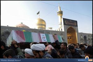 تشییع شهدای مدافع حرم در مشهد مقدس