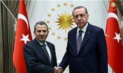 دیدار وزیر خارجه لبنان با  اردوغان در آنکارا
