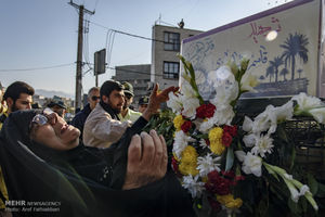 عکس/ مراسم تشییع دو شهید دفاع مقدس در کرج
