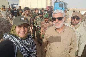 عکس/ لحظه شهادت رنا عجیلی اولین شهیده و خبرنگار میدانی حشدالشعبی