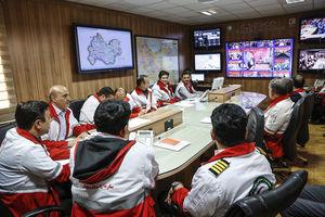 عکس/ مرکز کنترل عملیات هلال احمر
