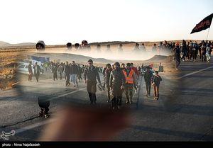 عکس/ کاروان زائران پیاده حرم مطهر امام رضا(ع)